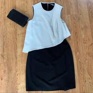 Black and white Shoshanna cocktail dress